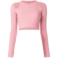 Year Of Ours Blusa Cropped Michelle - Rosa