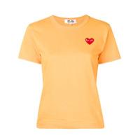 Comme Des Garçons Play Camiseta Com Patch De Coração - Laranja