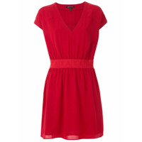 Armani Exchange Vestido Curto Franzido - Vermelho