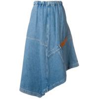 Loewe Saia Jeans Midi - Azul