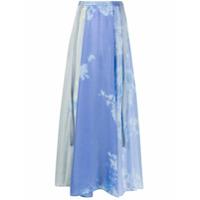Raquel Allegra Saia Longa Parachute - Azul