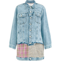 Natasha Zinko Oversized Multi-Panel Denim Jacket - Azul