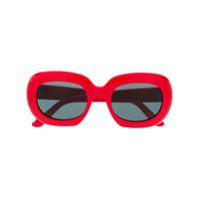 Celine Eyewear Óculos De Sol Oversized - Vermelho