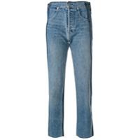 Helmut Lang Calça Jeans Cropped Desconstruída - Azul