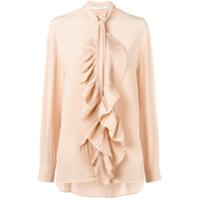 Givenchy Blusa Com Babado - Neutro