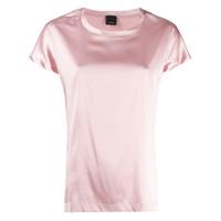 Pinko Blusa Com Acabamento De Cetim - Rosa