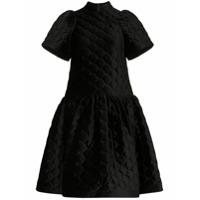 Shushu/tong Vestido Mini De Veludo Com Franzido - Preto