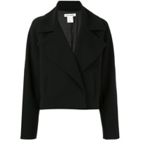 Bianca Spender Cropped Double Breasted Jacket - Preto