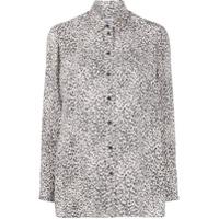 Kenzo Camisa Com Estampa De Leopardo - Neutro