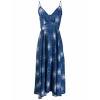 Paco Rabanne Vestido Midi Com Estampa De Estrelas - Azul