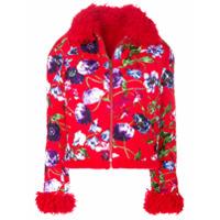 Kenzo Jaqueta Matelassê Floral - Vermelho