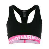 Dsquared2 Underwear Top Com Logo - Preto