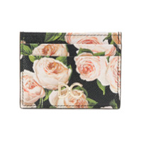 Dolce & Gabbana Porta Cartões Dauphine Floral - Preto