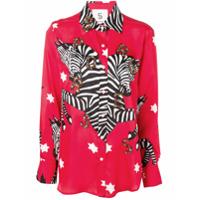 5 Progress Printed Zebra Shirt - Vermelho