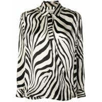 Laneus Blusa Henley Com Estampa Zebra - Neutro