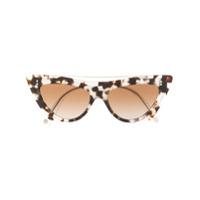 Valentino Eyewear Óculos De Sol Gatinho - Cinza