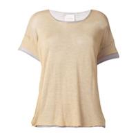 Fine Edge Camiseta Com Sobreposição - Cinza