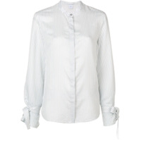 Ps Paul Smith Camisa Listrada Com Gola Padre - Branco