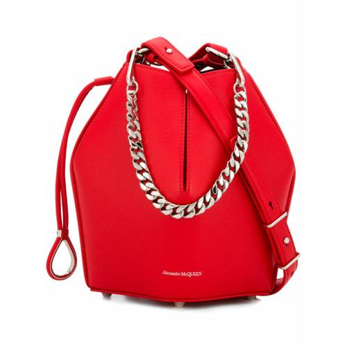 Imagem de Alexander McQueen bucket chain shoulder bag - Vermelho