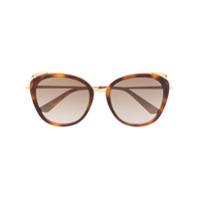 Cartier Óculos De Sol Oversized - Marrom