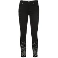 7 For All Mankind Calça Jeans Skinny Com Aplicações - Preto