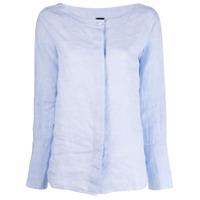 Fay Camisa Decote Arredondado - Azul