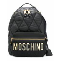 Moschino Mochila Grande Com Logo - Preto