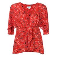 Jovonna Blusa Com Estampa Paisley - Vermelho