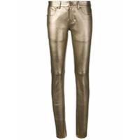 Saint Laurent Calça Jeans Skinny - Dourado
