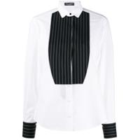 Dolce & Gabbana Camisa Com Plastron Contrastante - Branco