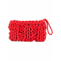 Alienina Bolsa Clutch - Vermelho