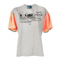 Kolor Camiseta Com Logo - Cinza