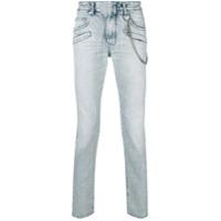 Pierre Balmain Calça Jeans Biker - Azul