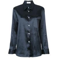 Mansur Gavriel Camisa Com Mangas Longas - Preto