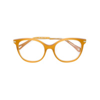 Chloé Eyewear Armação De Óculos Arredondado - Amarelo