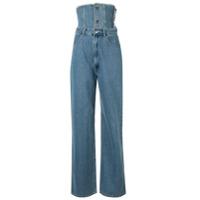 Ground Zero Calça Jeans Reta Com Cós - Azul