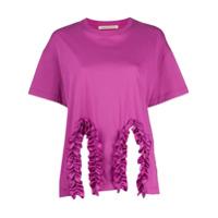 Christopher Kane Camiseta Com Acabamento Franzido - Rosa