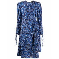 Etro Vestido Longo Mangas Longas Com Estampa Paisley - Azul