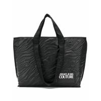 Versace Jeans Couture Stitch Details Shopper Tote - Preto