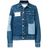 Ck Jeans Jaqueta Jeans Com Patchwork - Azul
