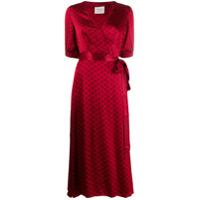 Cecilie Copenhagen Vestido Envelope Belle Com Estampa - Vermelho