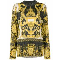 Versace Suéter Com Estampa Barroca - Amarelo