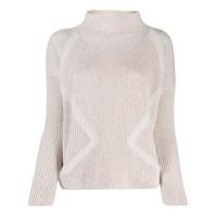 Lorena Antoniazzi Roll Neck Sequinned Sweater - Neutro