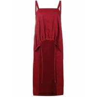 Ujoh Vestido Franzido Acinturado - Vermelho