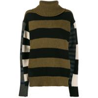 Colville Suéter Assimétrico Com Recortes - Verde