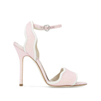 Francesca Bellavita Stardust Glitter Stiletto Sandals - Rosa