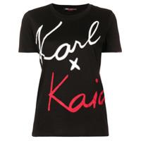 Karl Lagerfeld Camiseta 'karl X Kaia' - Preto