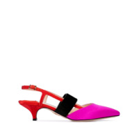 Andrea Gomez Sapato Greta Com Tira Posterior - Vermelho