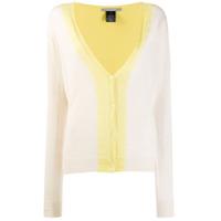 Suzusan Cardigan Com Efeito Tie Dye - Amarelo