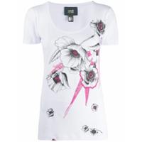 Cavalli Class Camiseta Com Estampa Floral - Branco